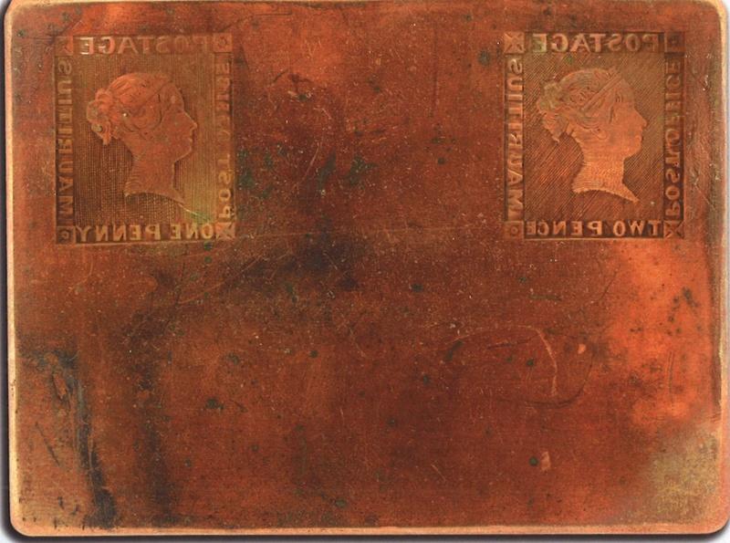 "Druckplatte der Mauritius ""Post Office-Marken"" verkauft Feldma10"