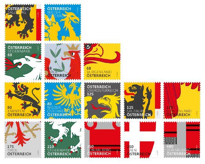 """Freimarkenserie """"Heraldik"""" Gasamt10"""