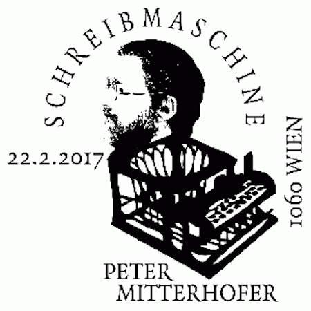"""Sondermarke """"Schreibmaschine – Peter Mitterhofer"""" Stempe11"""