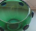 green glass vase, blue prunts Green_13