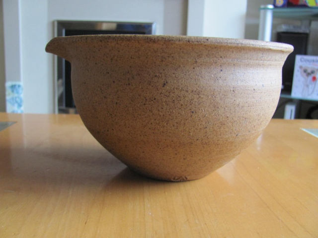 Studio Pottery mixing bowl - JA mark  38210