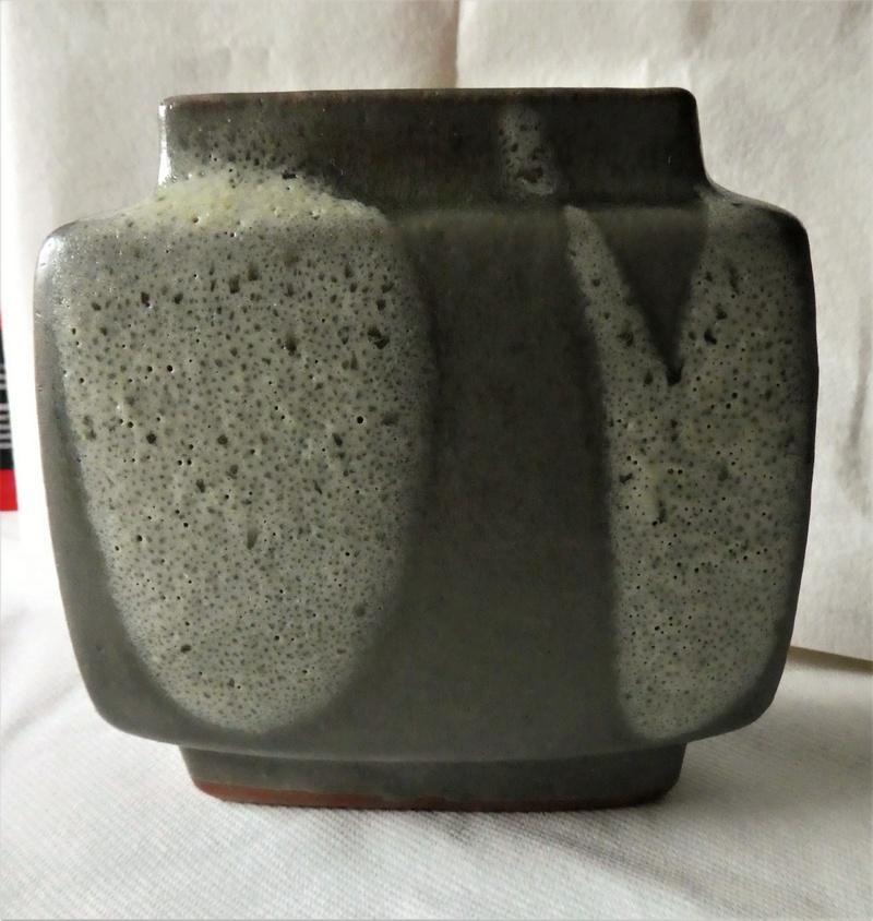 Square Studio Vase, O mark - Pierre Culot, Belgium  P1000521
