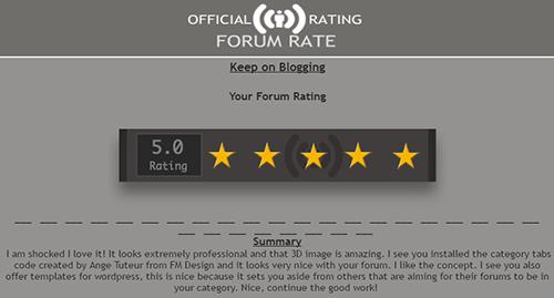 Forum rating  Screen16