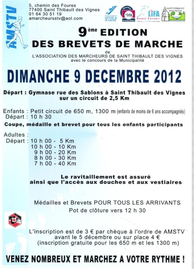 Brevets de marche à St Thibault des Vignes (77); 9/12/2012 Brevet10