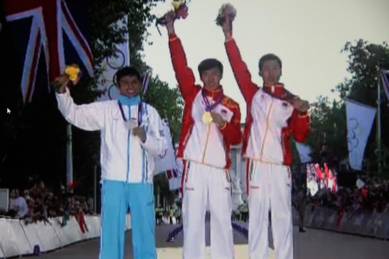Le podium du 20km olympique  Img_7710