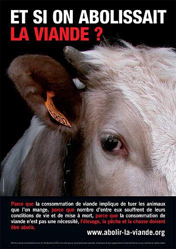Marche pour l'abolition de la viande : Paris le 29 janv. 2011 Affich10