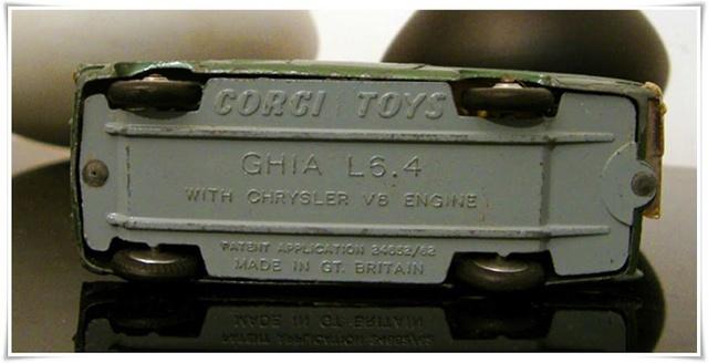 CORGI TOYS - GHIA L 6.4 With Chrysler V8 Engine - 241 - 1963/69 1-43_g19