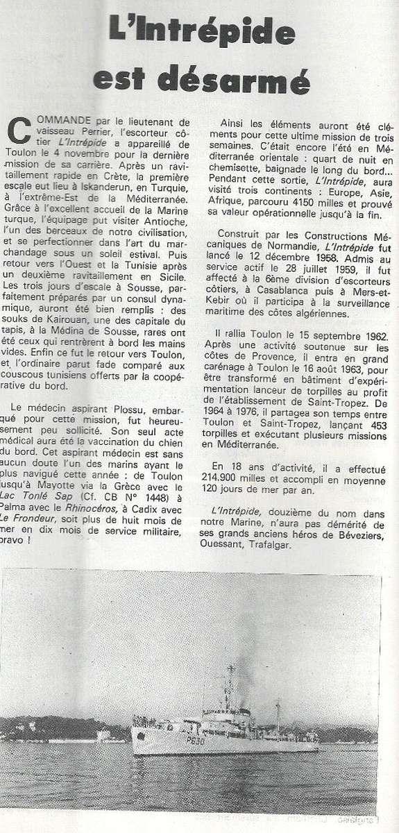 L'INTRÉPIDE (E.C.) 018