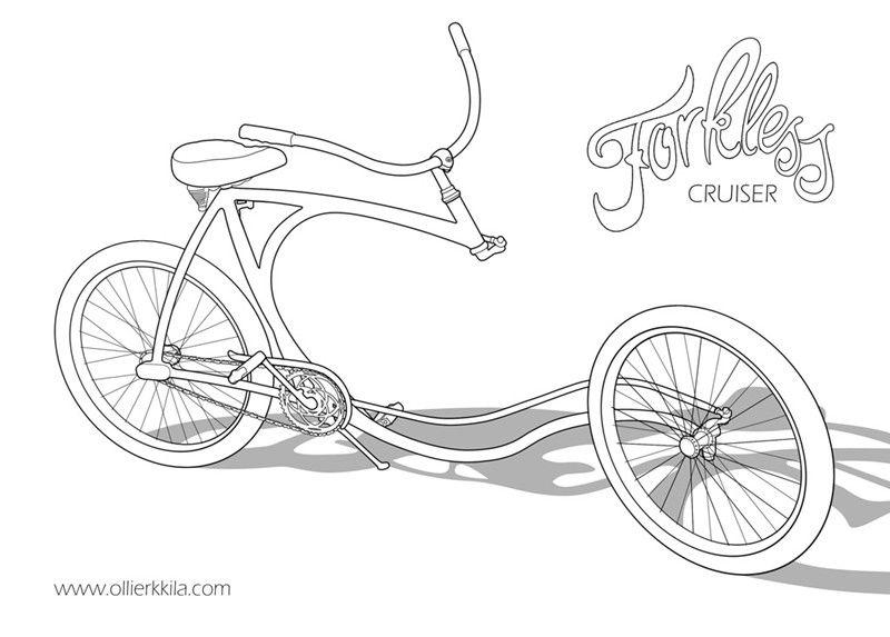 La bicyclette sans fourche d'Olli Errkilla Forkle10