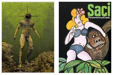 Juxtapositions oulipiennes d'images - Poésie des contrastes Monstr10