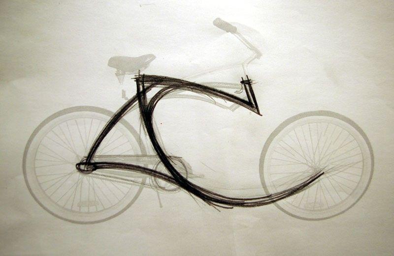 La bicyclette sans fourche d'Olli Errkilla Skissi11