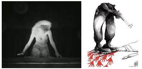 Juxtapositions oulipiennes d'images - Poésie des contrastes Victim10