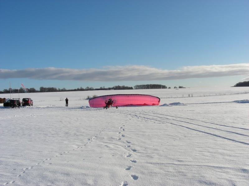 1er vol de l'année sous la neige... Birdy010