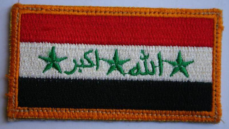 Iraq Flag on velcro Img_0427