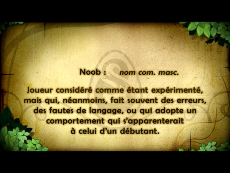 Définition de noob  Noob10