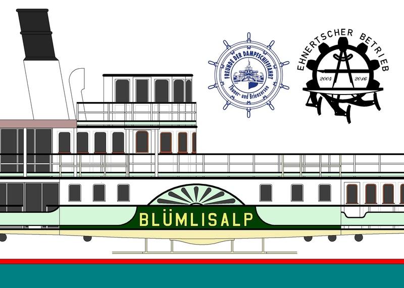 """DS """"Blümlisalp"""" - M1:150 - Probebau 1813"""