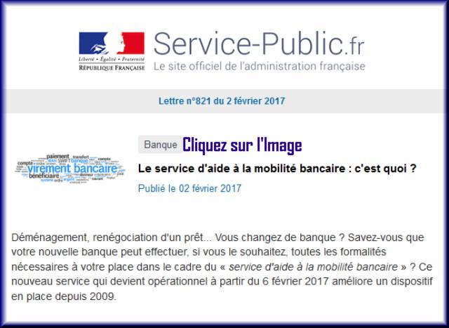 """La lettre N° 821 de """"Service Public"""" pour le 02 Février 2017 82110"""