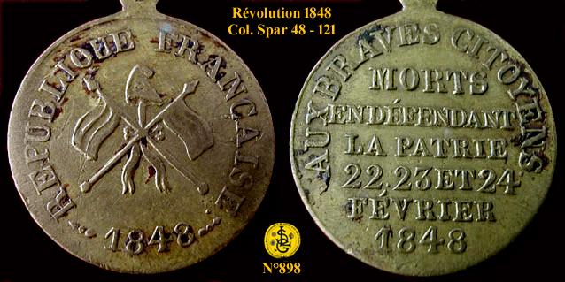 Médaille  révolutionnaire 1848  089810