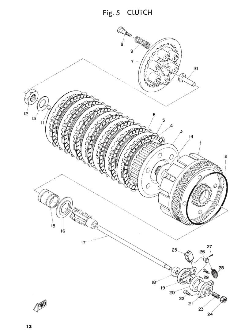 Cloche embrayage R160 Ishot-74