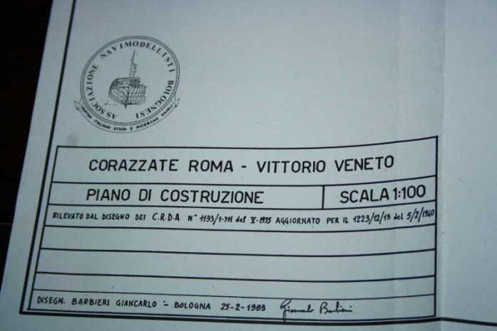 roma - Corazzata ROMA 1:100 C11