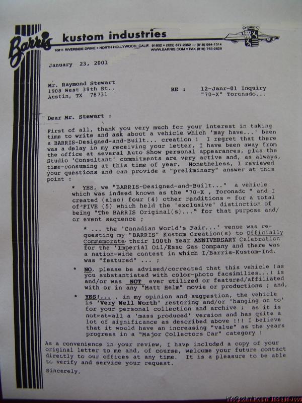 Toronado 67X , création Barris - Page 2 Tornad10