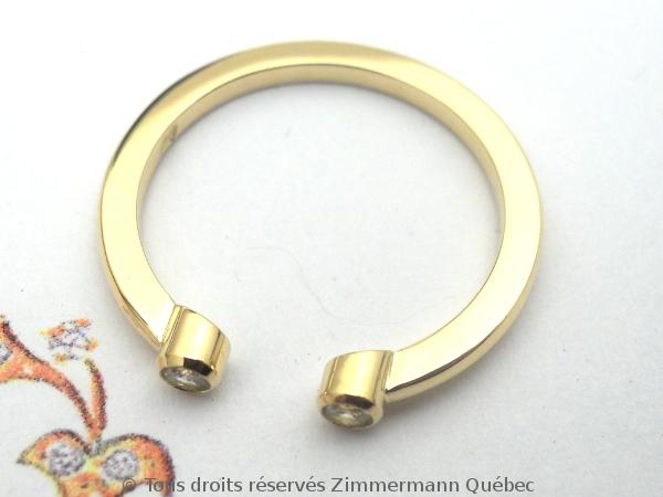 Bague or deux diamants en serti clos Dscn0118