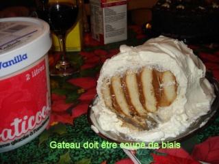 gâteau froid: caramel eagle brand, biscuits et crème fouettée Gateau11
