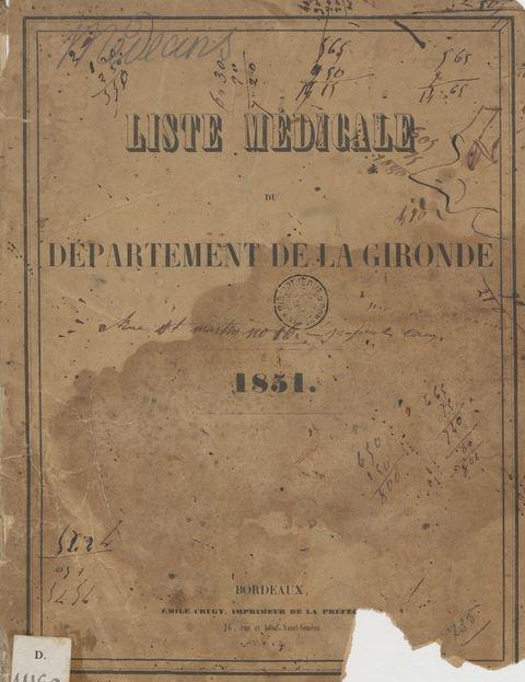 Liste médicale du Département de la Gironde Girond28