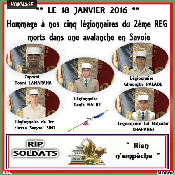 Savoie : cinq  legionnaires  meurent dans une avalanche à Valfréjus - Page 2 Rip11