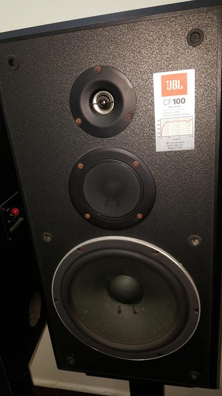 jbl cf100 speaker used. Black Bedroom Furniture Sets. Home Design Ideas