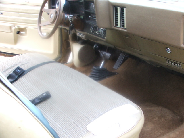 Automatic shifter installation 73 chevelle Bench10