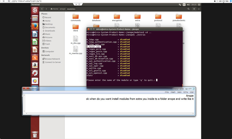 Guide install Anope in Centos 7 Anope110