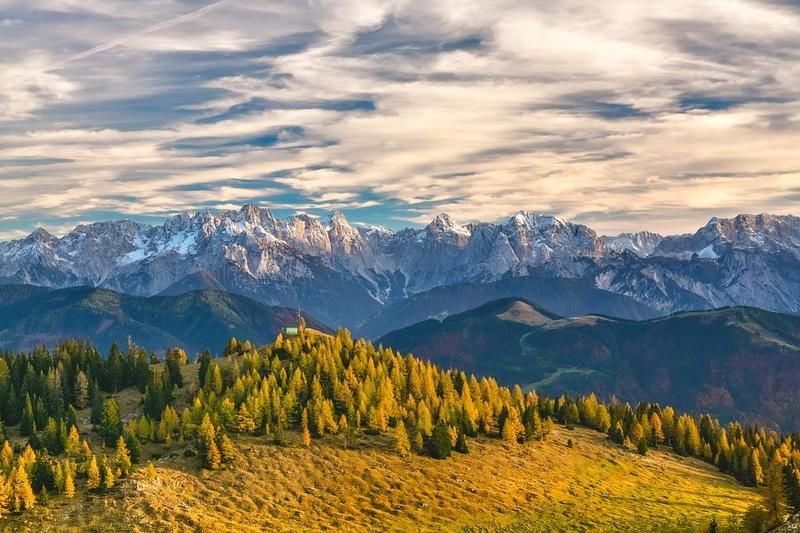 paysages enneigés de l'Autriche Mounta10