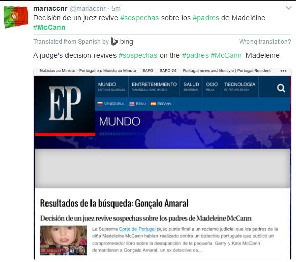Suspicions revived, according to Spanish press Maria10