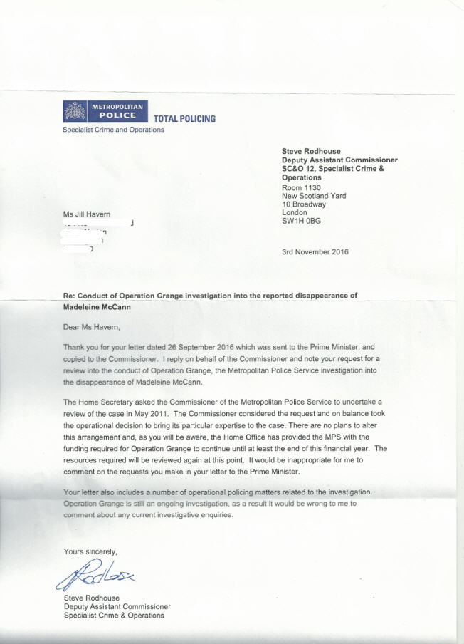 Letter sent today to the Prime Minister and Sir Bernard Hogan-Howe suggesting Met Police enquiry into Maddie McCann mystery is not genuine - Page 2 Met_po10