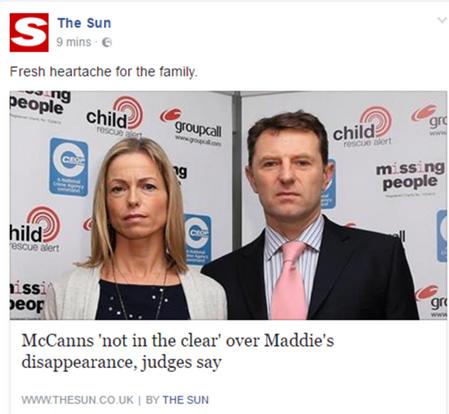 SUN on facebook: Fresh heartache for the McCanns Sun10