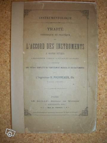 VENTE Rare Harmonium FOURNEAUX et son traité ... Traite10