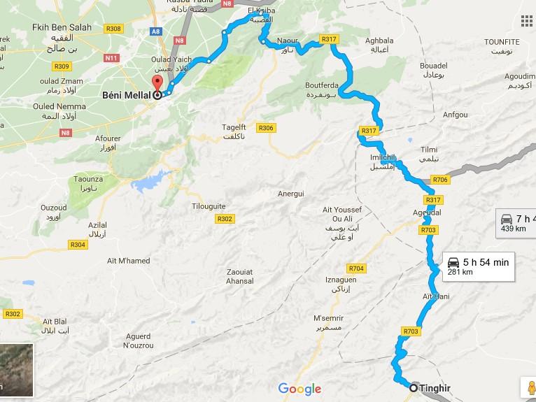 [Carburant, Routes, Police] nouvelle route entre tinghir et beni mellal  Carte_11