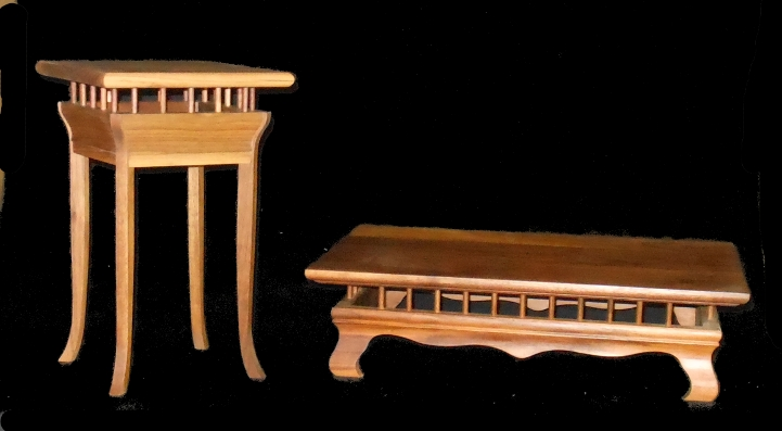 Two new walnut stands 2walst10