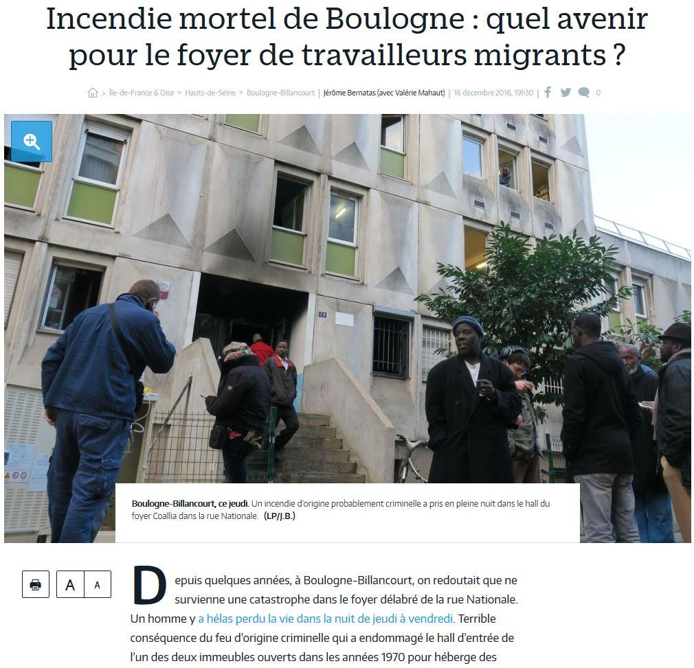 Incendie foyer des jeunes travailleurs rue Nationale Clipb213