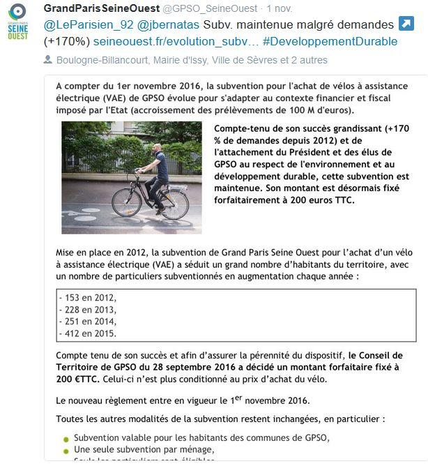 Subvention à l'achat de vélos à assistance électrique Clipbo11