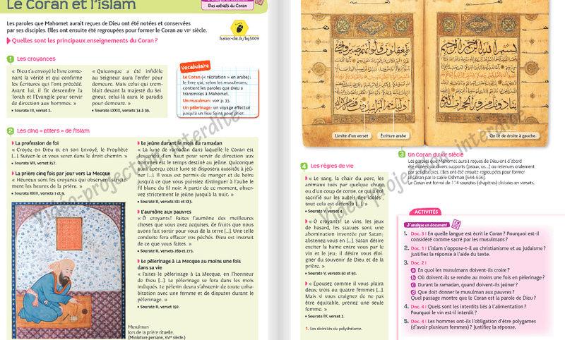 Comment l'islam est abordé dans les manuels scolaires ?  Hatier10