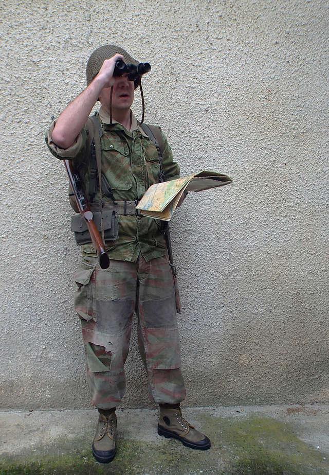 Sous-lieutenant 18e RCP, point topo - Janvier 1958 Ok1010