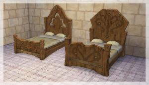 Спальни, кровати (антиквариат, винтаж, средневековье) Uten_334