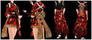 Восточные костюмы, кимоно Uten_369