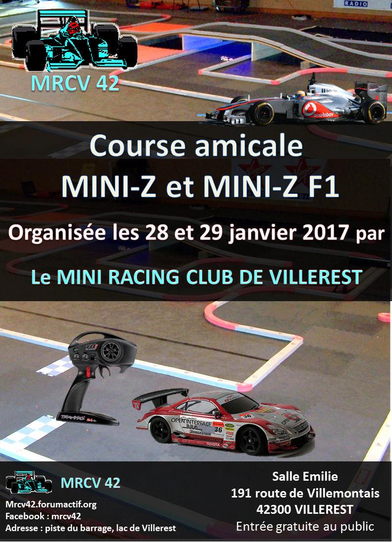 Course amicale mini-z le 28 et 29 janvier 2017 au MRCV42 VILLEREST Course12