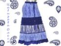Вязаная юбка Синий Лед. Dscn4411