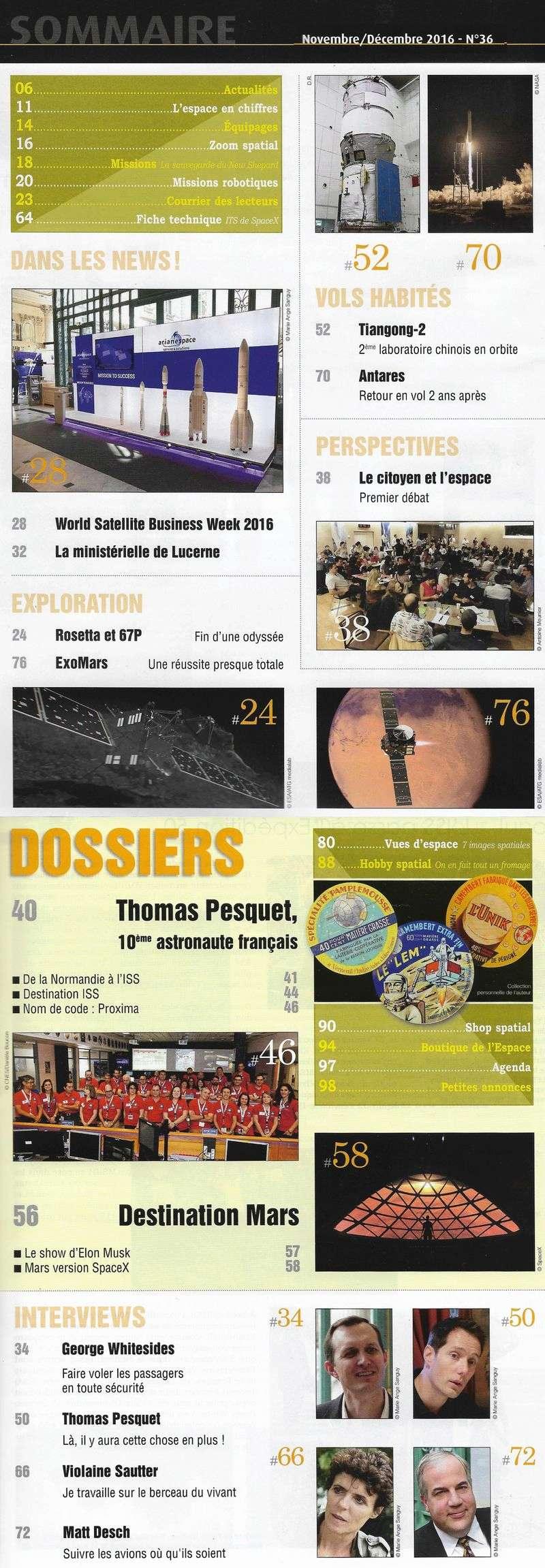 Espace & Exploration n°36: Thomas Pesquet   16110011