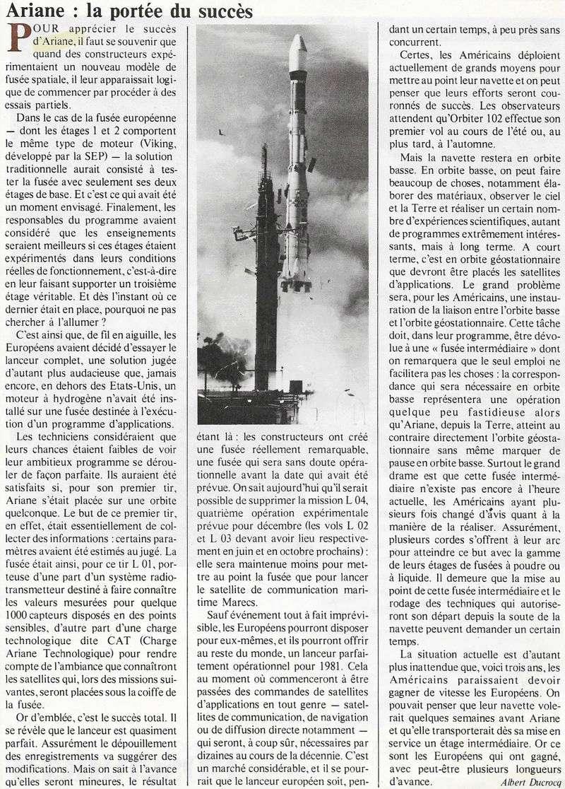24 décembre 1979 - Début de l'ère d'Ariane 80010010