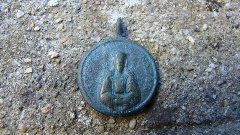 Médaille Jésus de Nazareth & les deux moines fondateurs de l'Ordre des Trinitaires - XVIIIème 00120c10